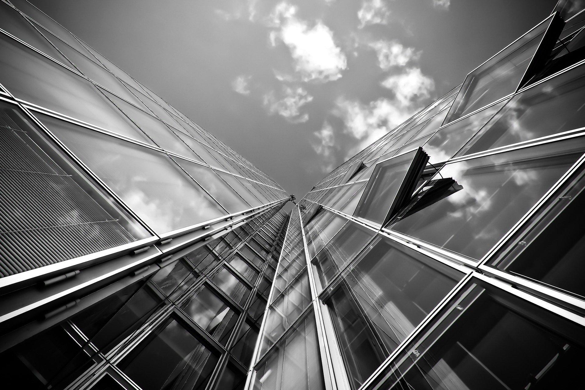 sklo budova